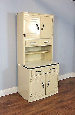 Tall Vintage Kitchen Unit Cupboard Cabinet Metal Retro Mid Century Refurb Kitchen Units Vintage Kitchen Vintage Kitchen Cabinets