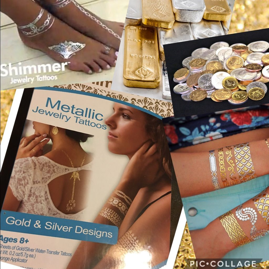 Shimmer metallic jewelry tatoos as seen on tv products