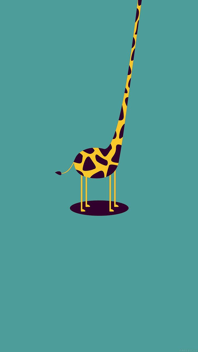 Giraffe Cute Blue Minimal Simple Wallpaper Hd Iphone In 2019