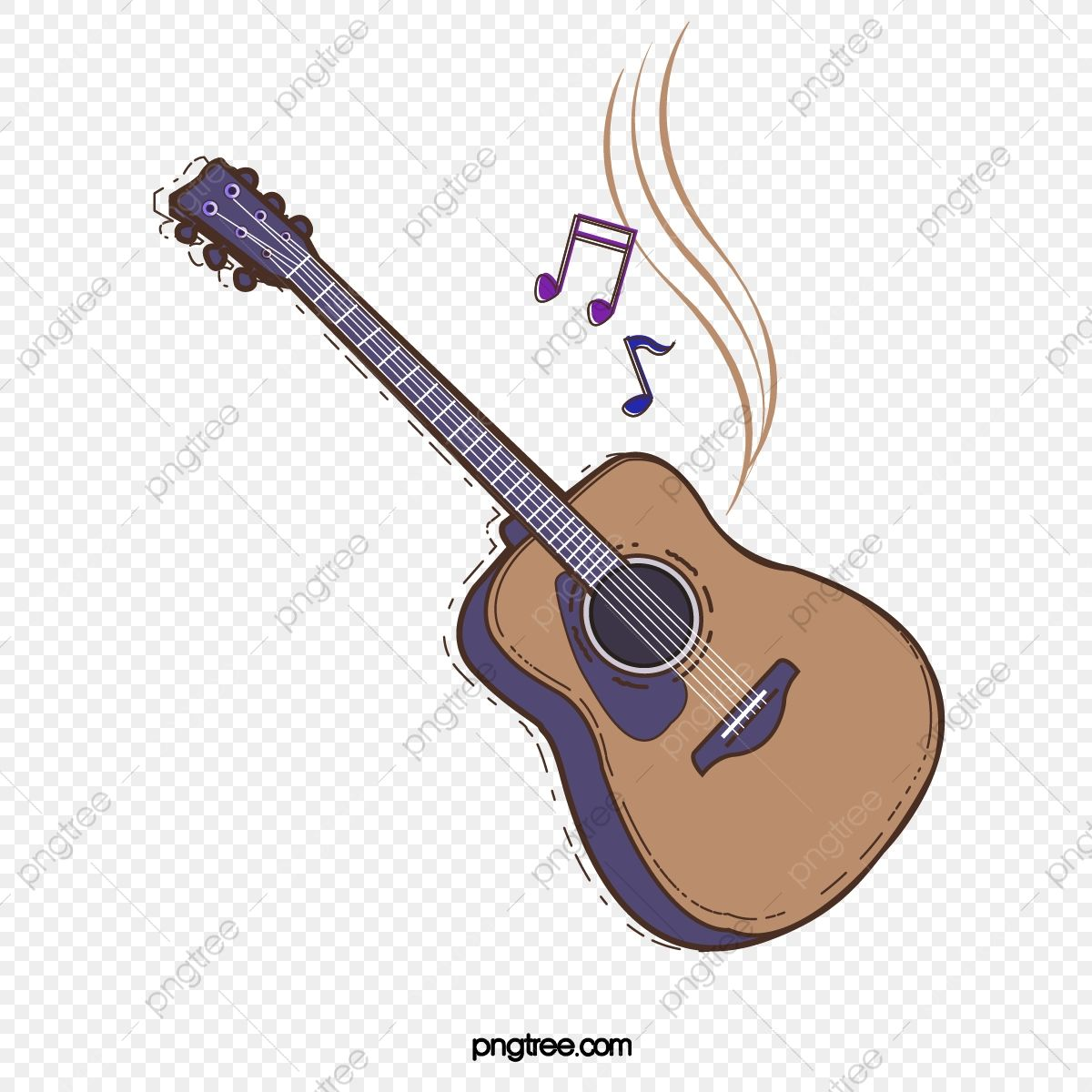 Gambar Gitar Gear Kartun Alat Muzik Lembaran Musik Gaya Kartun Png Dan Vektor Untuk Muat Turun Percuma Kartun Gitar