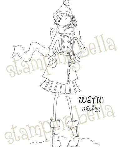 Fab winter Uptown Girl from Stamping Bella | dibujos infantiles ...
