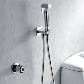 Bathroom Thermostatic Mixing Mixer Valve Bidet Spray Water Shower Faucet Tap