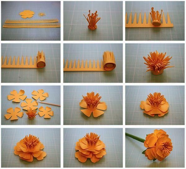 how to make paper flowers step by step - Buscar con Google   DIY ...
