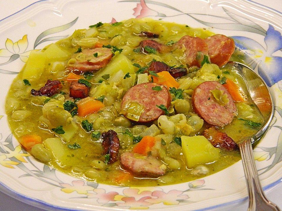 Erbsen Suppe, Erbsensuppe Und Suppen