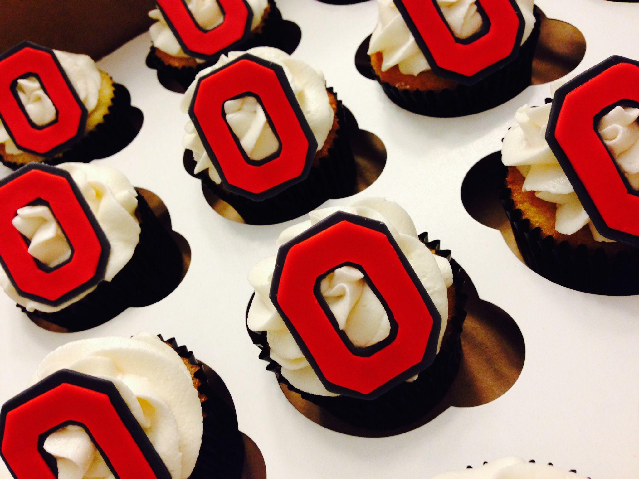 Ohio State Cupcakes Ohio State Cake Buckeye Dessert Birthday