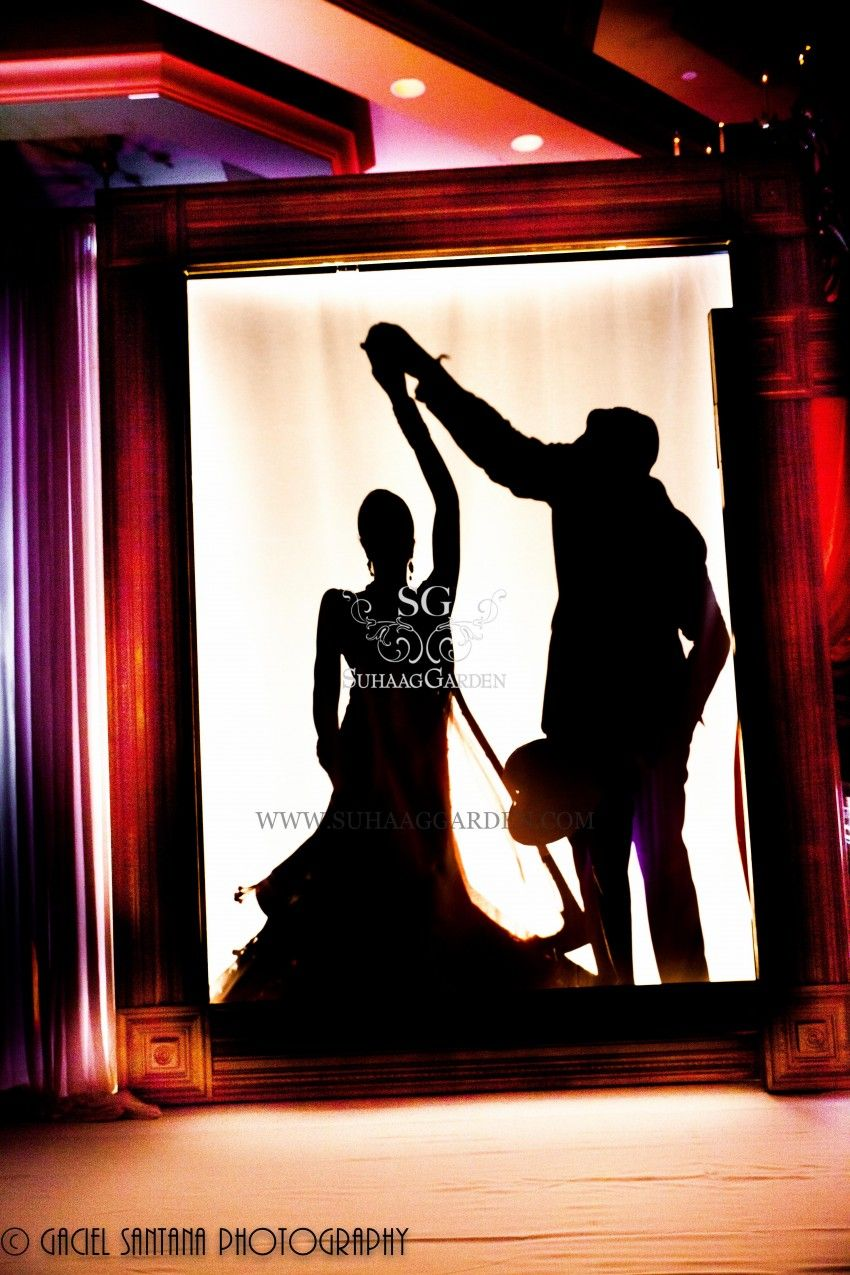 Suhaag Garden Bride & Groom, Silhouette Reveal, Shadow Entrance ...