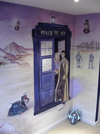 Andy Lloyd Artist Doctor Who mural David Tennant Pinterest