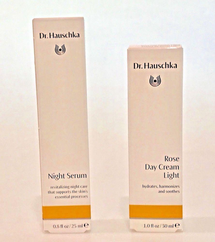 2 Dr Hauschka Items Rose Day Cream Light 1 Oz Night Serum 0 8 Oz 2 Items Night Serum Skin Care Secrets Serum