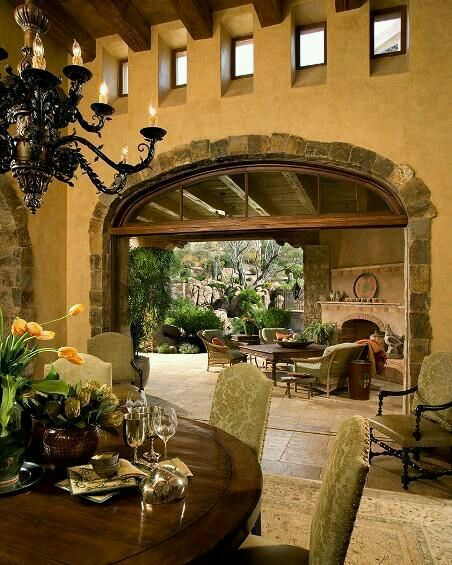 Spanish Style Homes With Courtyards: Tuscan House, Hacienda Homes