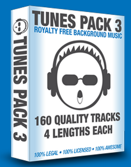 Tunes Pack 3 – TOP New 160 Royalty-Free Fully Licensed Tracks 100% Legal For Awesome Background Tracks