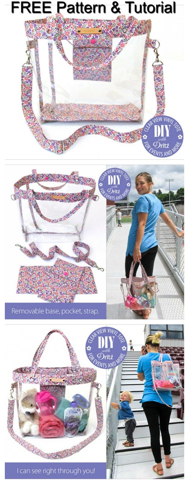 Clear Vinyl Tote Bag For Events Free Pattern Amp Tutorial
