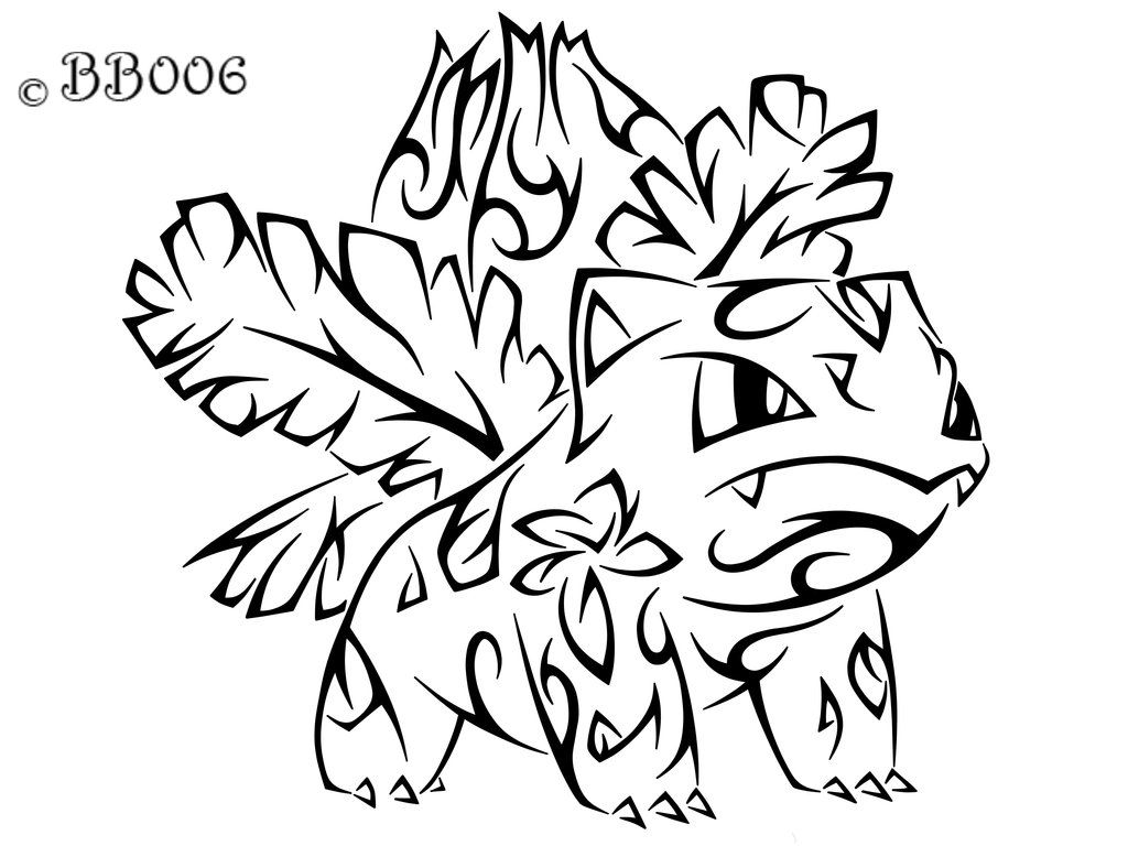 002: Tribal Ivysaur (Remake) by blackbutterfly006 on deviantART
