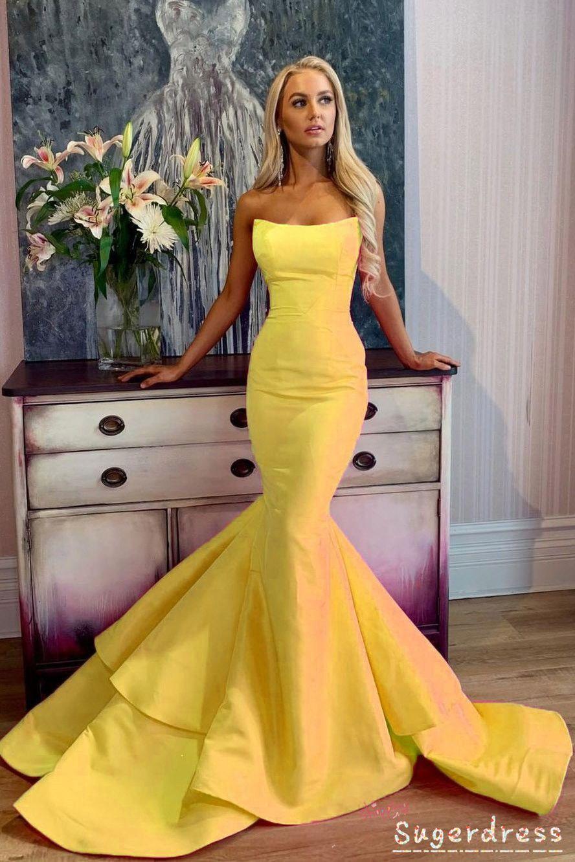 Strapless Mermaid Long Prom Dress With Ruffles Prom Dresses Long Pink Prom Dresses Long Mermaid Best Formal Dresses [ 1332 x 888 Pixel ]
