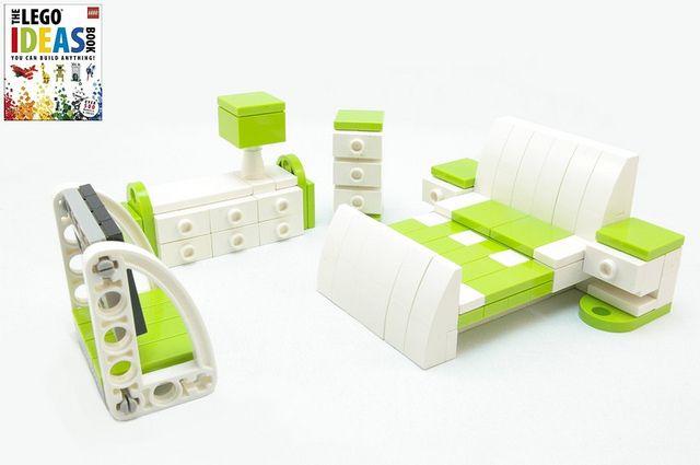 dkIMGP1104 Lime and white bedroom suite by Deborah Higdon