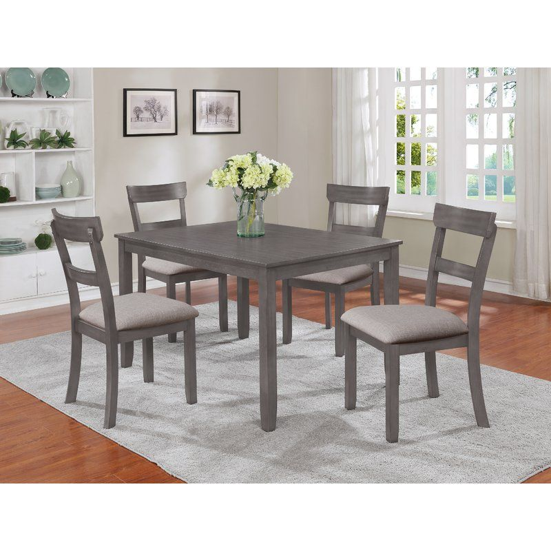 Henderson 5 Piece Solid Wood Dining Set Reviews Joss Main