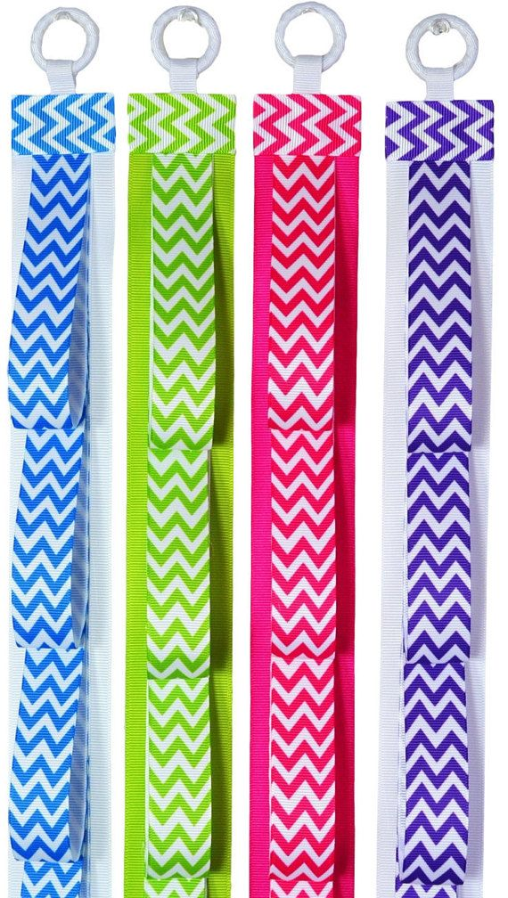 HEADBAND HOLDER Wall Hanging Chevron Print by FunnyGirlDesigns