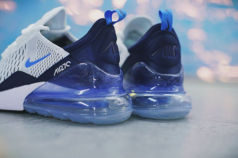 finest selection df142 094bd Cheap High Quality Nike Air Max 270 Whitie Deep IceBlue AH8050 144 2018  Spring Summer Sale