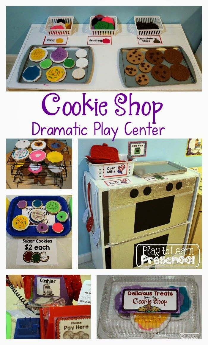 Cookie Shop Bakery Dramatic Play Center Role Play Ideas Dramatic