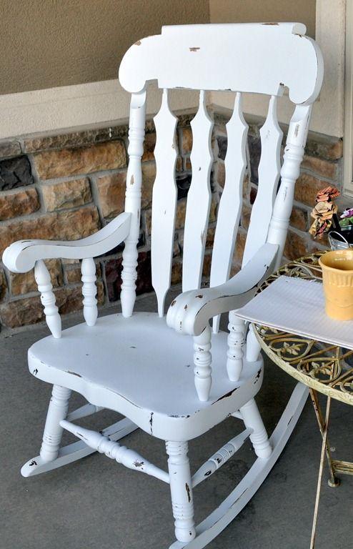 Silla Mecedora White Rocking Chairs Rocking Chair Makeover