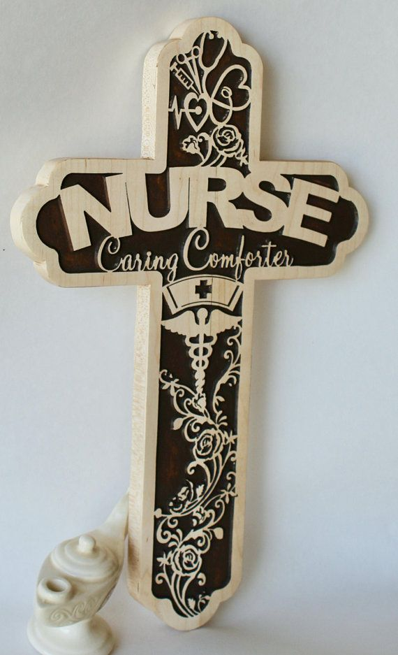 Nurse Cross Made Of Wood - Registered Nurse Graduation ...