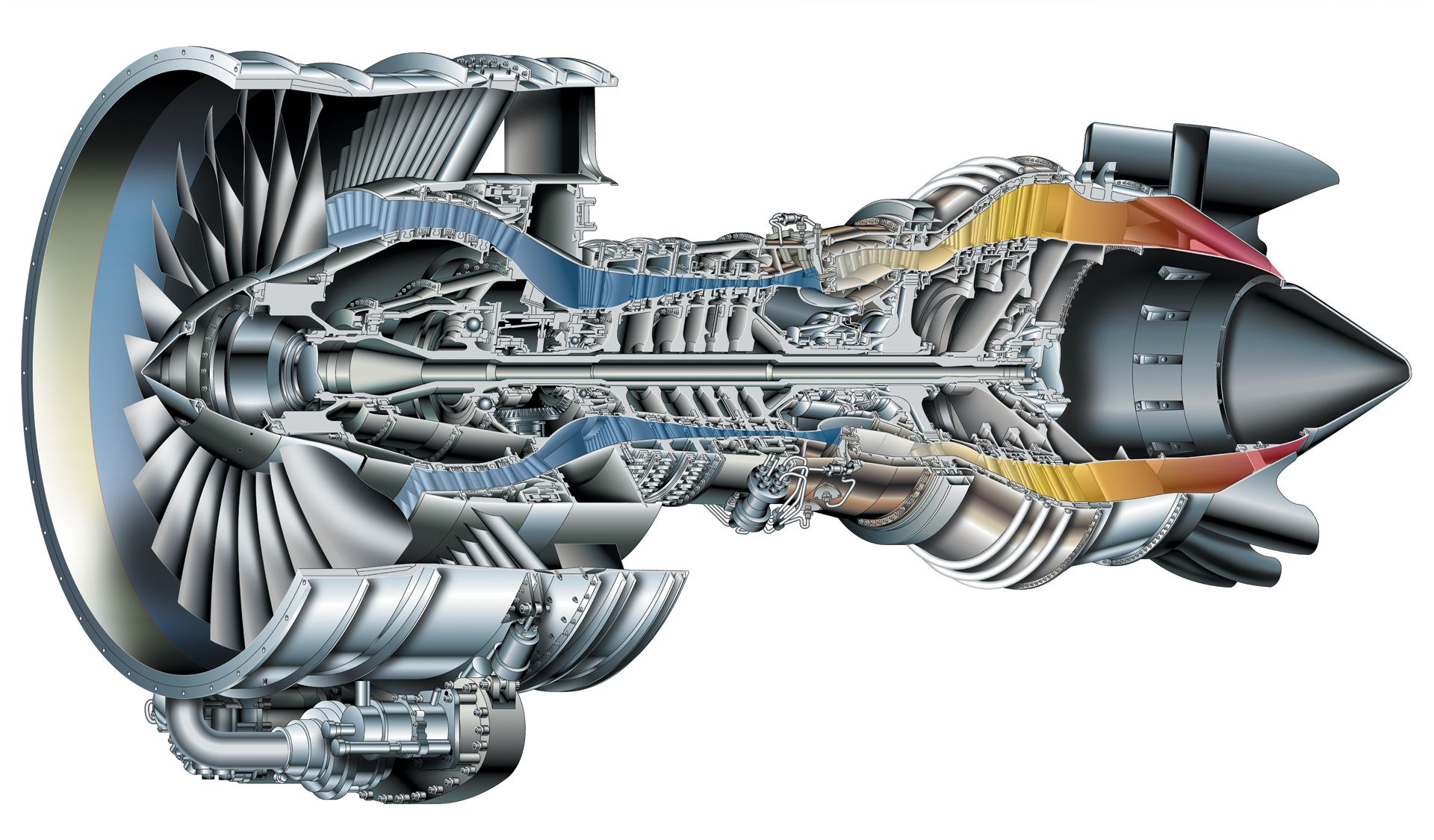 pratt & whitney pw6000 cutaway | aerospace cutaways and ... aircraft engine diagram aircraft circuit diagram
