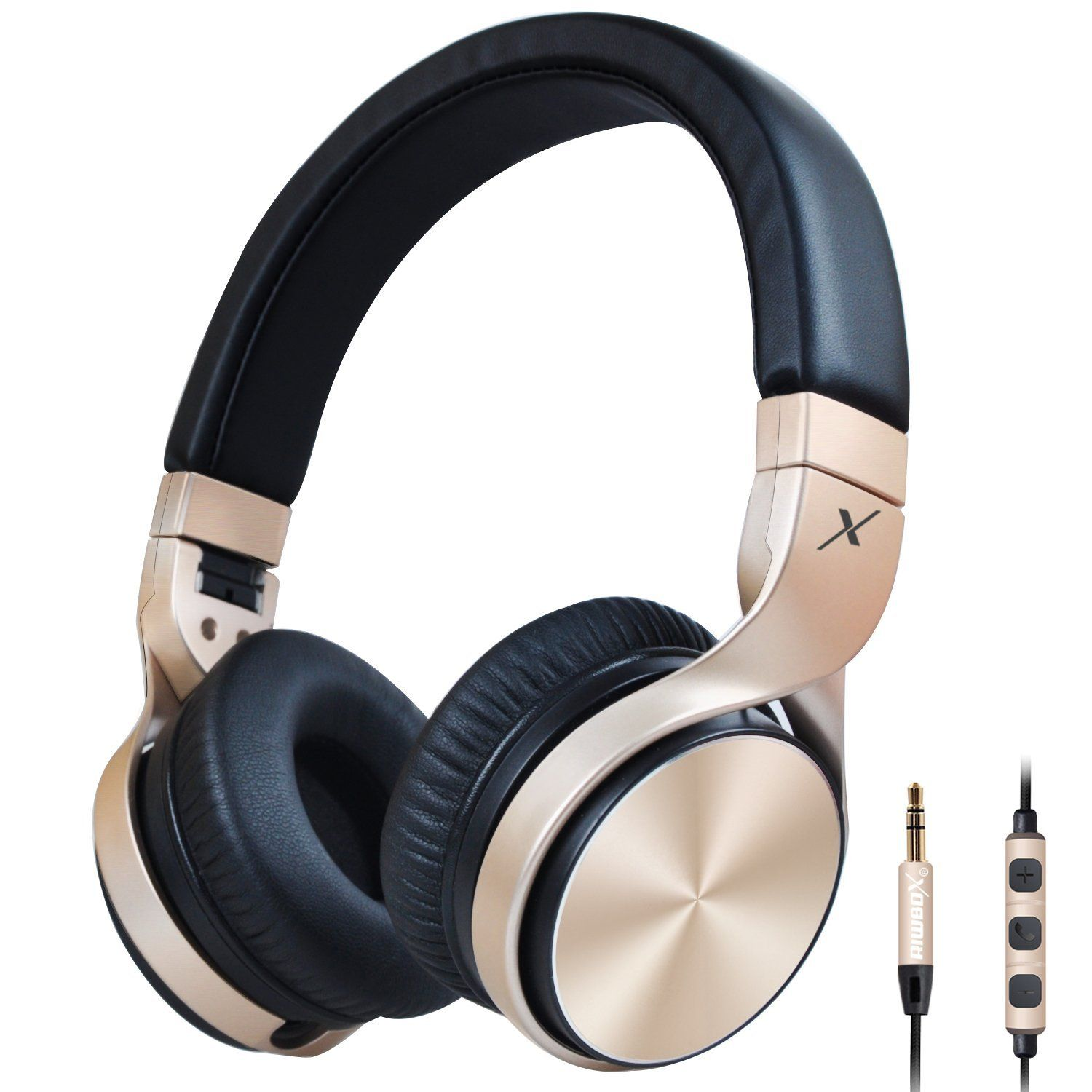 Black gold # foldableheadphones with microphone and volume