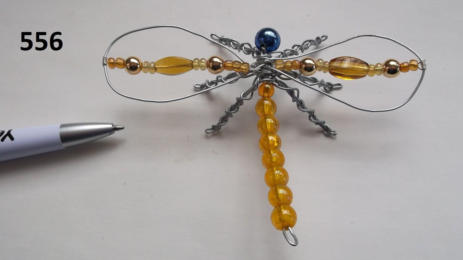 No.556 - a Cute Dragonfly BeadBug - Wire and Bead BeadBugs - Jill ...