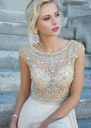 Jeweled Top Prom Dress