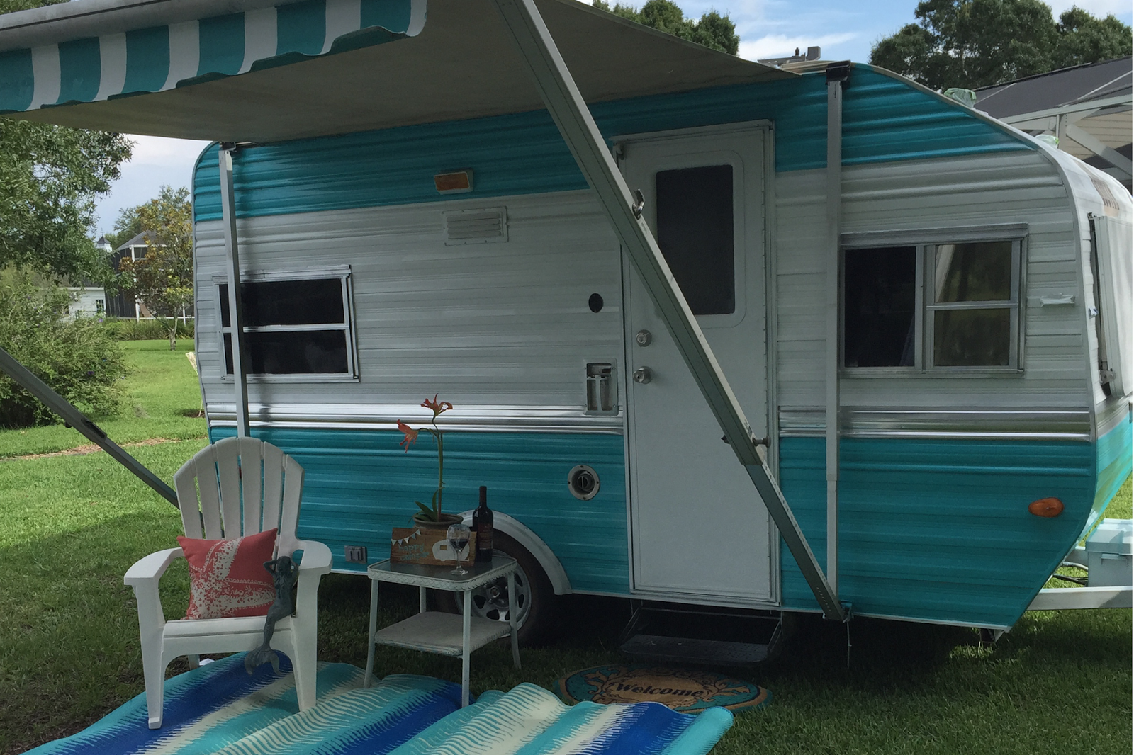 Ready To Go Glamping Vintage Camper Remodel Vintage Camper Go Glamping