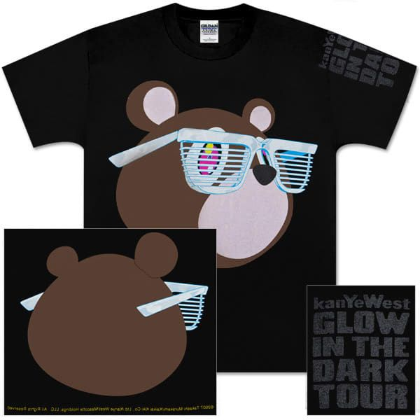 The Design Evolution Of Kanye West S Tour Merch Glow In The Dark Tour Kanye West Tour Kanye West Bear Tour Merch