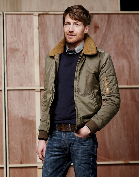my man wears vintage inspired bomber jackets, men's fashion, fall ...