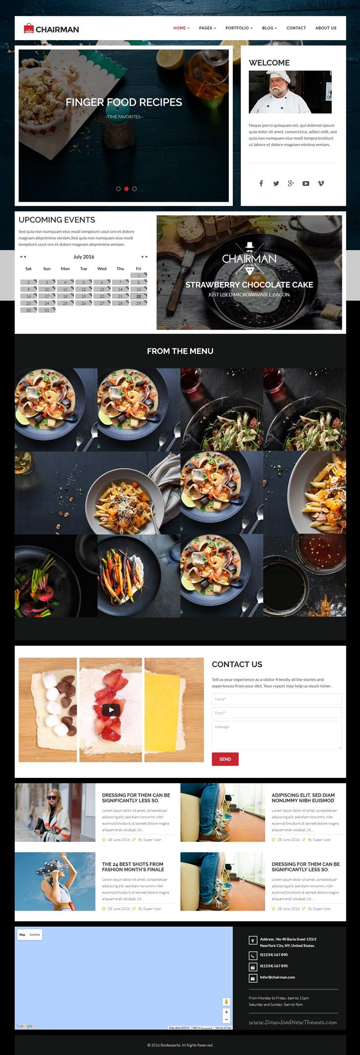 Chairman is a clean and modern design joomla template for chairman is a clean and modern design joomla template for multipurpose cafe food recipe websites forumfinder Choice Image