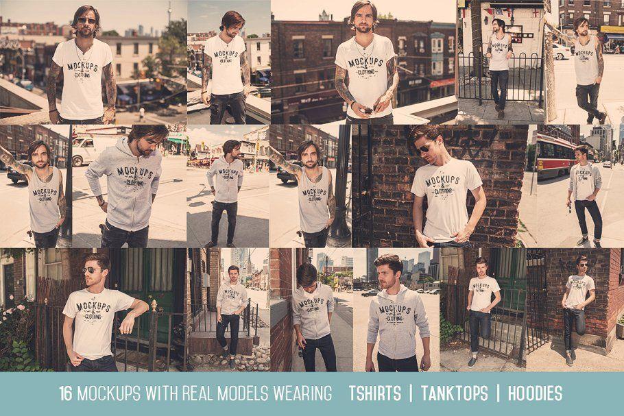 Photo of Ad: 16 Men's Apparel Mockups VOL.1 by ZedProMedia on Creative Market. Get the Ne…