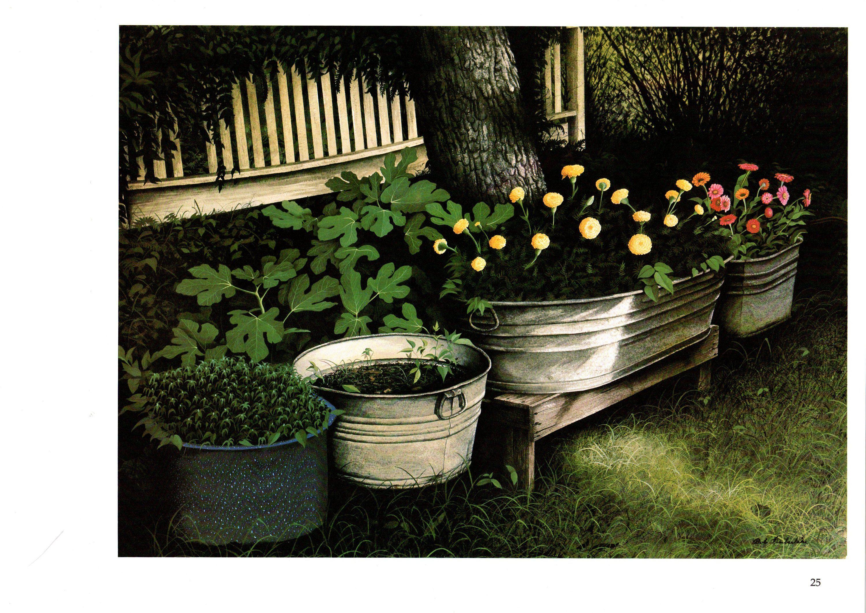 Mrs leonards marigolds painted by bob timberlake north