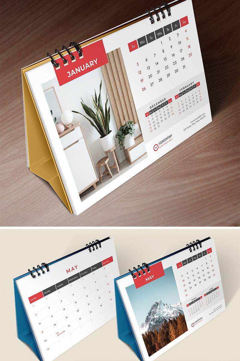 Desk Calendar 2020 Table Calendar Planner 26 Pages Corporate Identity Template In 2020 Calendar Design Template Table Calendar Corporate Desk Calendar
