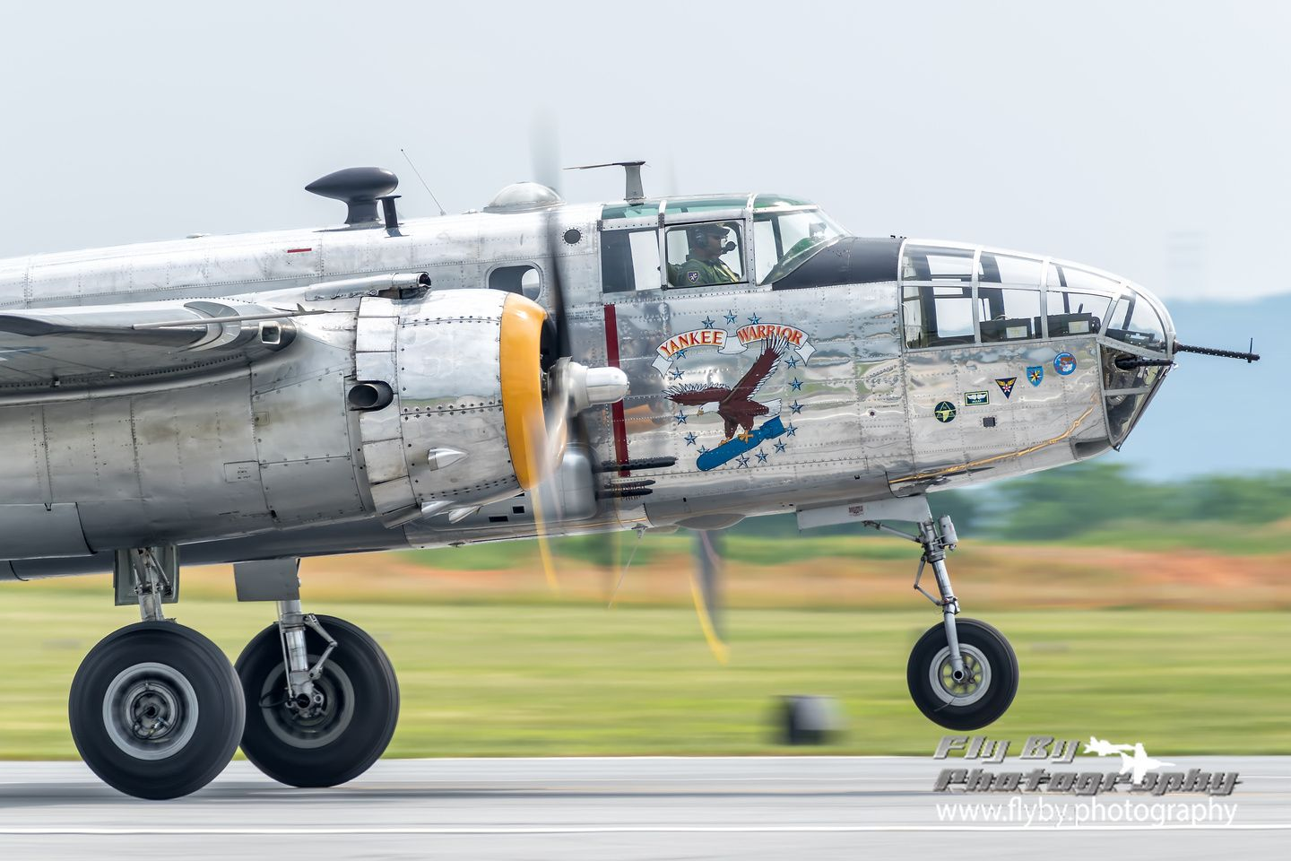 """Face Of A Warrior The Yankee Air Museum's B25 """"Yankee"""