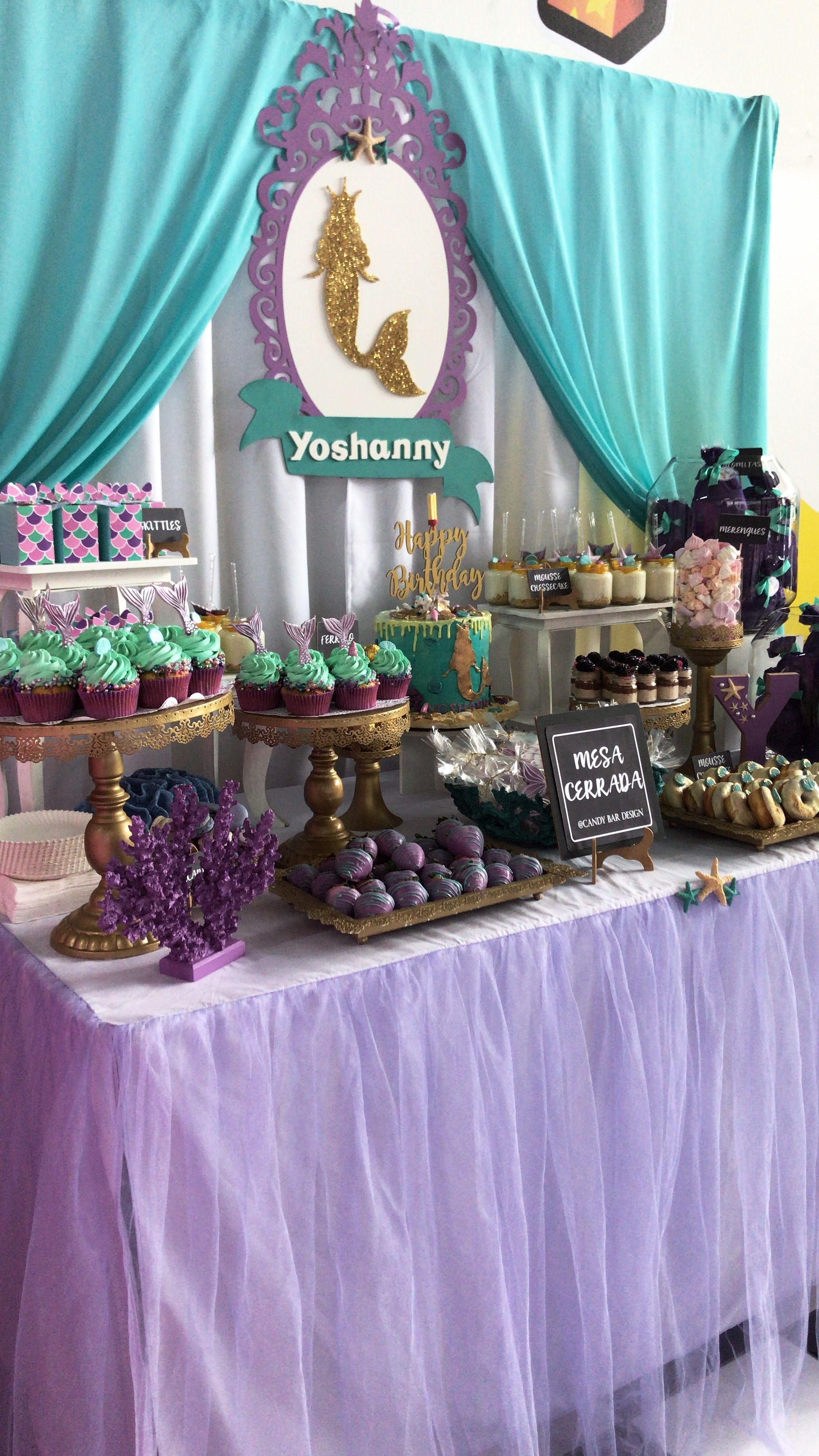 Mermaid Candy Table Candy Table Mermaid Birthday Party Mermaid Birthday