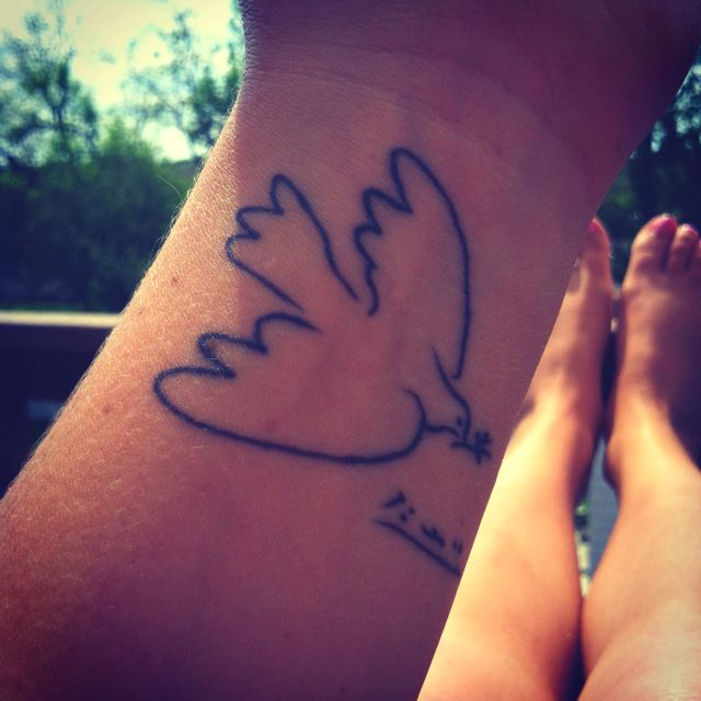 Pablo Picasso's peace dove. My first and only tattoo. (So far!)