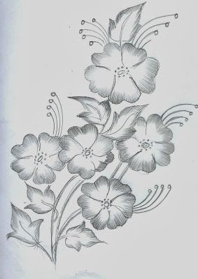 Mehndi Sketch Embroidery Painting January 2014 Flower Art Drawing Pencil Drawings Of Flowers Art Drawings Simple