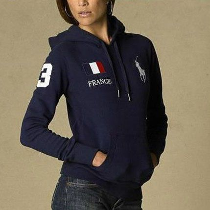Polo Ralph Lauren Womens Flag Hoodie France Outlet Online