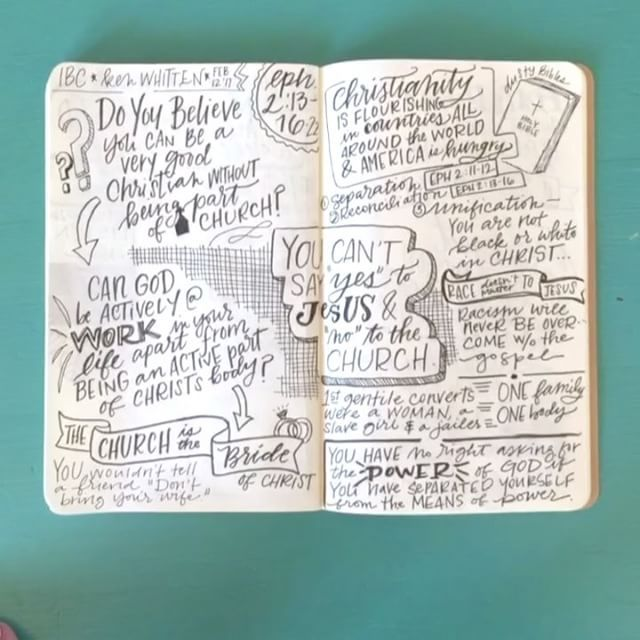 Hand lettering and sermon sketch notes inspiration from for Hand lettering bible journaling