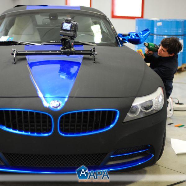 Bmw Z4 Black: BMW Z4 Blue Chrome And Black Matt Nubuck
