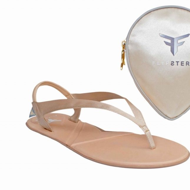 13a527c54df239 Flipsters foldable flip flop shoes in champagne