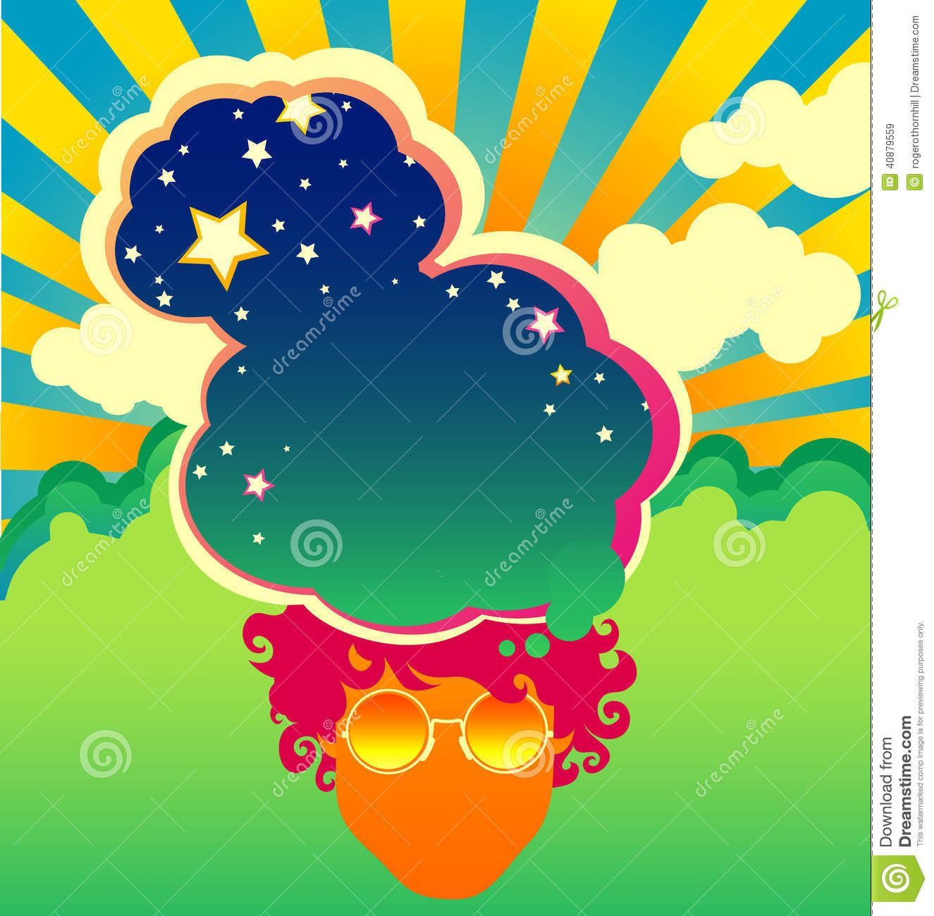 Poster design 1960s - Psychedelic Poster Template Stock Vector Image 40879559