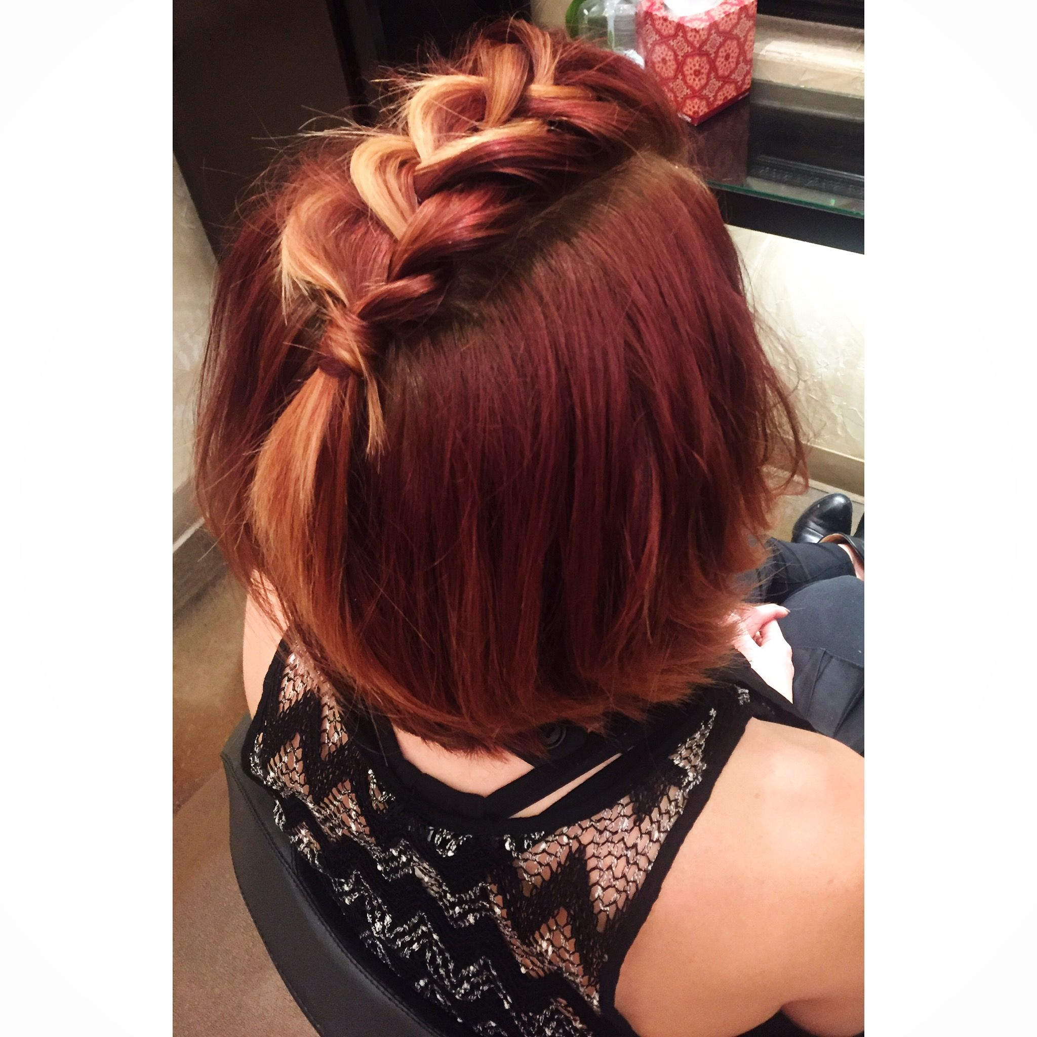 Mohawk braid instagram haileyhagler short to medium hair updos