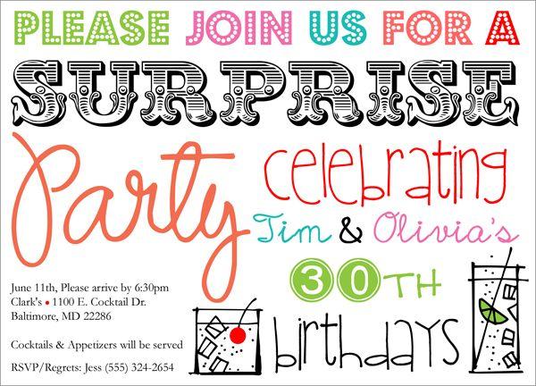 Surprise Cocktails-cocktail party invite images, surprise party - invitation for cocktail party
