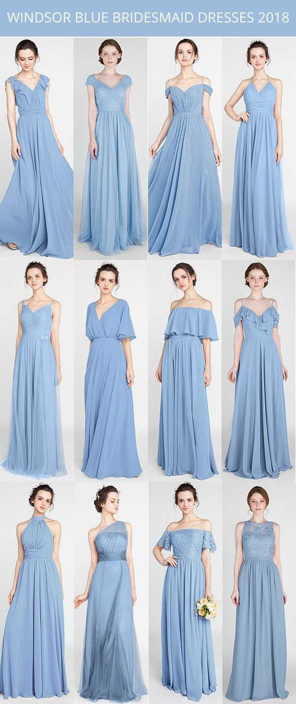 Windsor blue bridesmaid dresses trends bridalparty