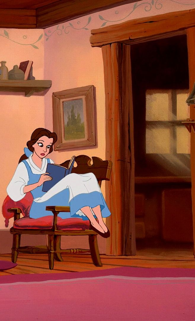 Beauty And The Beast Belle Reading With Images Disney Beauty