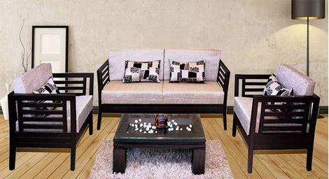 Teak Wood Wooden Sofa Set Designs Indian Style