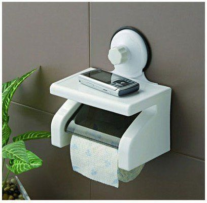 White Waterproof Space Toilet Paper Holder Roll Tissue Case Roll Stand *** Click on the image for additional details.
